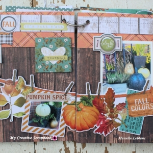 Marielle LeBlanc-November main kit-Mini Albumpage 5-6