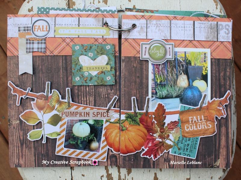 Marielle LeBlanc-November main kit-Mini Albumpage 5-6